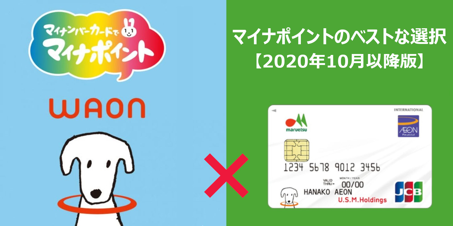 マイナポイント×WAON×マルエツカードで最高にお得な選択を!【2020年10月以降版】